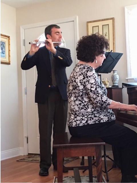 Raul Esquivel-Flute and Dr. Carol Britt-Piano
