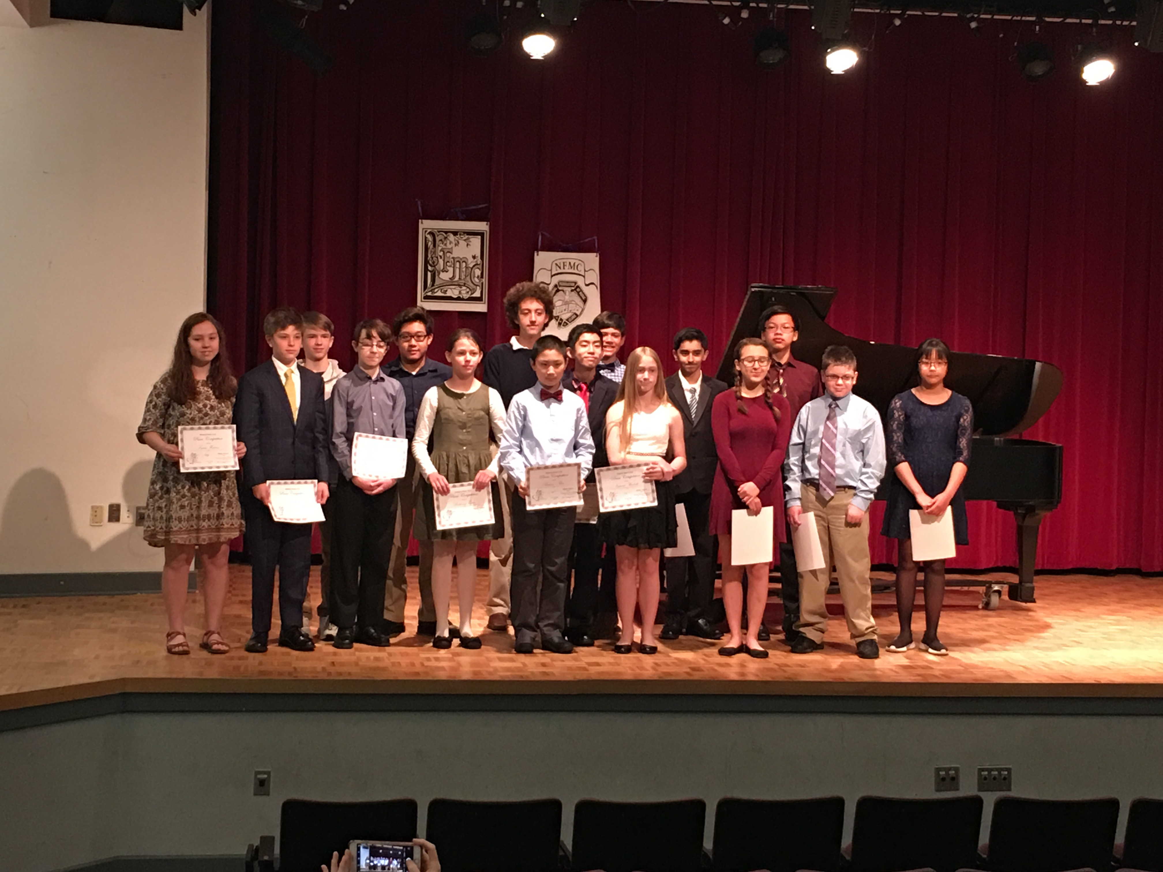 2019 Middle School- MMC Piano Competition Participants